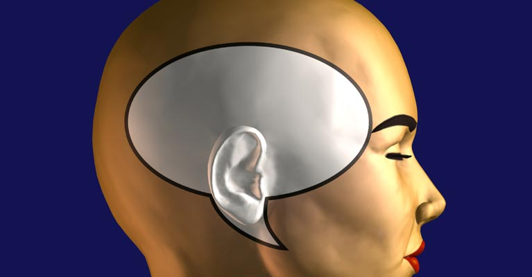Image of a head with speech bubble