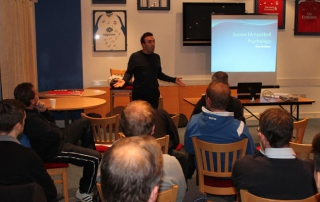 Dan Abrahams presenting at the Sussex Football Association