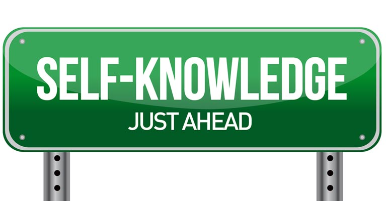 Self knowledge just ahead sign