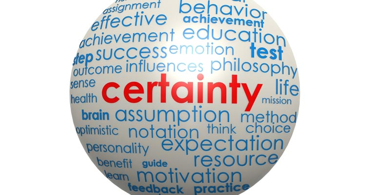 certainty ball with successful words