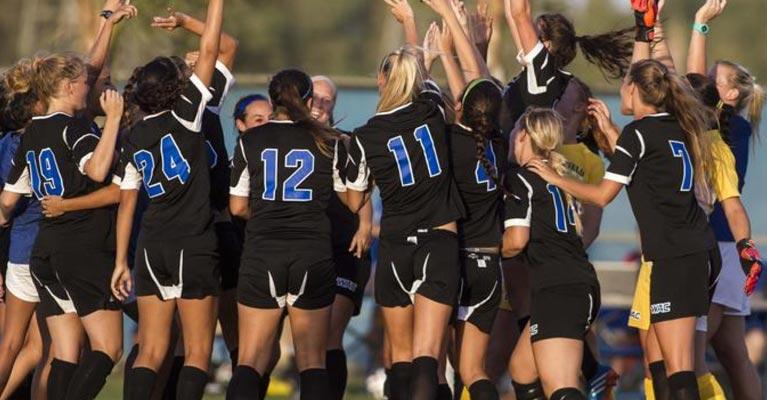 Women's soccer team camaraderie