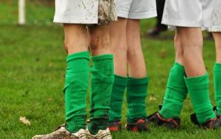 Legs of kids football team