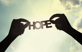 Hope sign in the sky