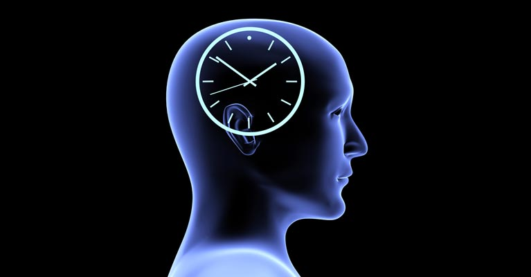 Soccer brain with a clock inside
