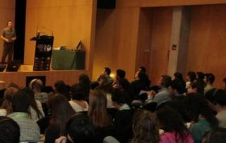 Dan Abrahams presenting sport psychology