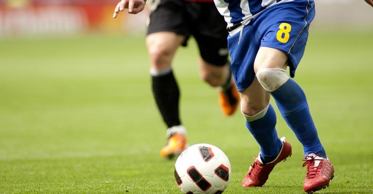 Footballer showing great skill