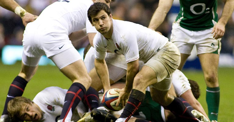 England Rugby team in full action