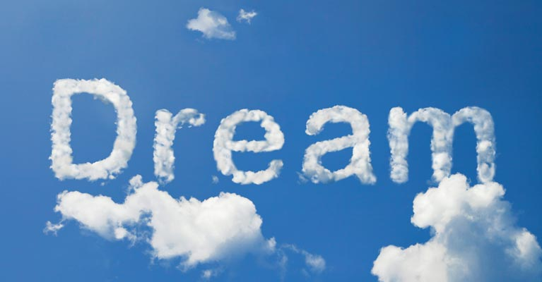 Dream clouds graphic