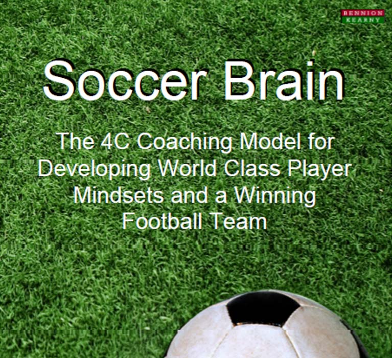 Dan Abrahams soccer coaching psychology book Soccer Brain
