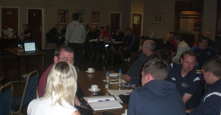 Dan Abrahams presenting at the Kent FA 2