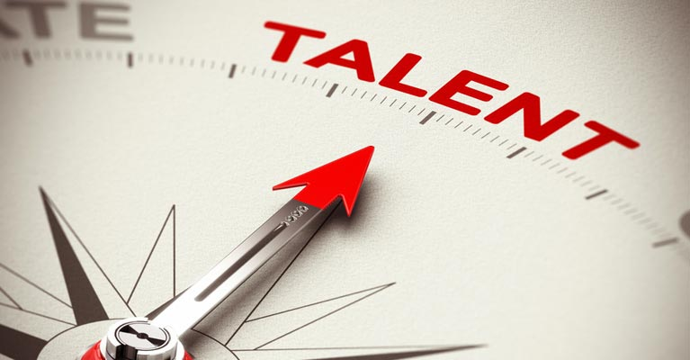 Arrow pointing to talent