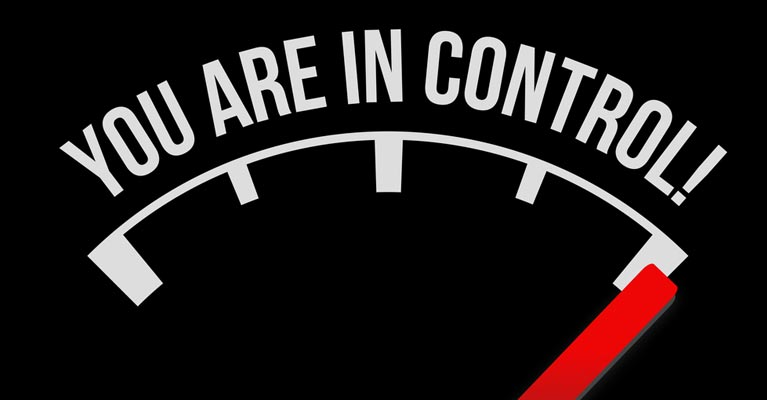 Your in control graphic