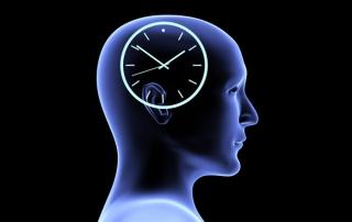 Soccer brain with a clock inside
